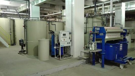 Automatická zneškodňovací stanice odpadních vod z mořící linky