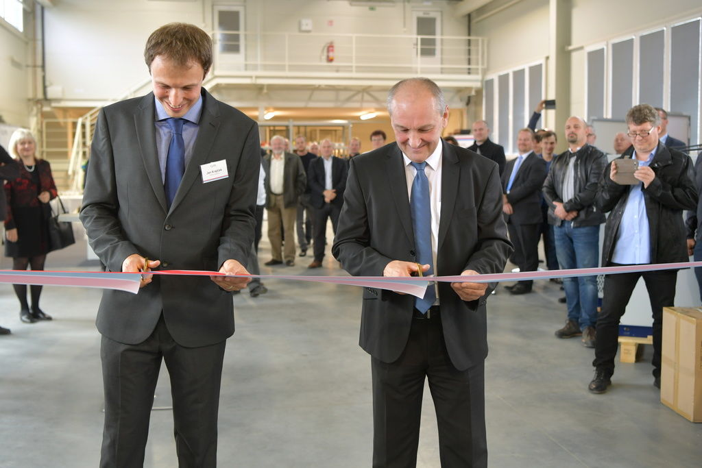 Opening ceremony of a new production hall